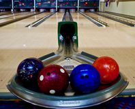 Typical Bowling Alley, USA royalty free stock photos