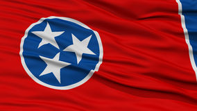 Closeup Tennessee Flag, USA tillstånd Fotografering för Bildbyråer