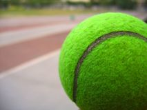 Closeup of a Tennis Ball Stock Image