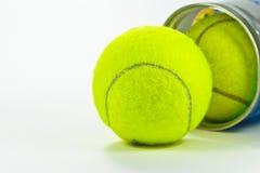 Closeup of tennis ball  Royalty Free Stock Image
