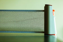Closeup tennis table with net Stock Photography