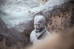 Closeup of a terracotta warrior Stock Photos