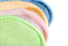 Closeup of terry cloth fabric Stock Photography