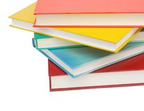 Closeup on textbooks. Colorful textbooks is for learning background Stock Photography