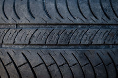 Closeup texture of a car tyre Royalty Free Stock Image