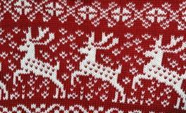 Closeup texture of cloth with deer. S Stock Photography