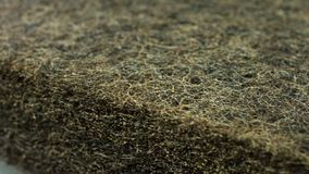 Closeup texture of coconut coir for making mattresses stock footage