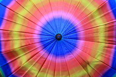 Closeup texture of colorful rainbow umbrella Royalty Free Stock Photo