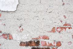 Cracked vintage old wall background Stock Photo