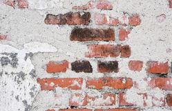Cracked vintage old wall background Royalty Free Stock Photos