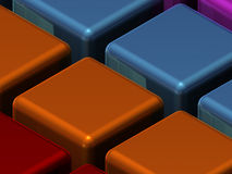 Closeup Texture Of Cubes Royalty Free Stock Image