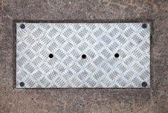 Closeup texture of diamond metal panel Stock Photography