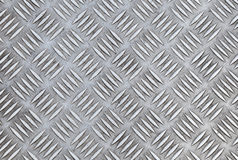 Closeup texture of diamond metal plate Royalty Free Stock Image