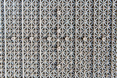 Closeup texture of gray color plastic mat Royalty Free Stock Photography