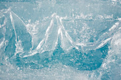 Closeup texture of ice Royalty Free Stock Photos