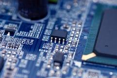 Closeup texture of integrated circuit Royalty Free Stock Photos