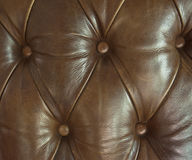 Closeup texture of leather sofa Stock Images