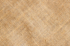 Closeup of Texture Natural sackcloth for background. Eco friendly. Place  writing text Royalty Free Stock Photo
