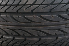 Closeup Texture of new tire background Royalty Free Stock Photography