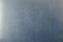 Closeup Texture Of Blue Imitation Leather Stock Photo