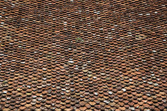 Closeup texture of old roof tiles Stock Photos