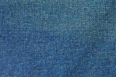 Closeup texture pattern of blue jean Stock Image