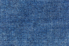 Closeup texture pattern of blue jean Stock Photography