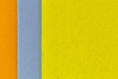 Closeup texture photo of super Absorbent fabrics in orange blue Royalty Free Stock Photos
