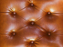 Closeup texture of vintage blue leather sofa Royalty Free Stock Images