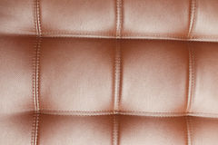 Closeup texture of vintage blue leather sofa Stock Photography