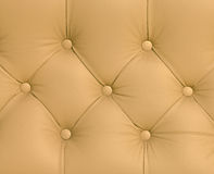 Closeup texture of vintage brown leather sofa Royalty Free Stock Photography