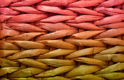 Closeup textured pattern of grunge rattan wicker Stock Photos