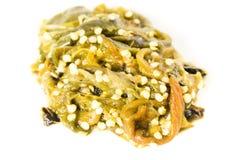 Closeup thai Chili Paste owhite background. royalty free stock photos