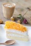 Closeup of Thai dessert, Foythong Cake Royalty Free Stock Photo