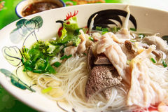 Closeup Thai noodle. With blur background Royalty Free Stock Photo