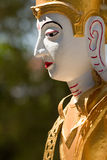 Closeup of Thai Northern God statue, Chiang Mai, Thailand Stock Photo