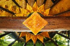 Closeup thai pattern stock photography