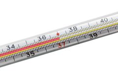 Closeup thermometer Stock Image