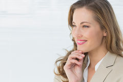 Closeup of a thoughtful businesswoman looking away Royalty Free Stock Photos