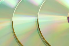 Closeup of three cd. For backgrounds or textures Royalty Free Stock Images