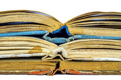 Closeup of three old books Royalty Free Stock Photography