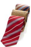 Closeup of three ties Royalty Free Stock Photo