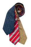 Closeup of three ties Royalty Free Stock Photography