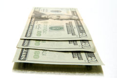 Three Twenty Dollar Bills Royalty Free Stock Photos