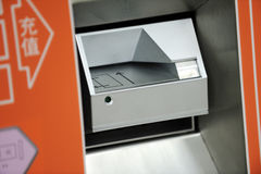 Closeup of a ticket machine Stock Photography