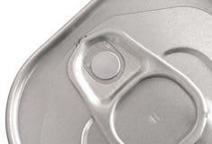 Closeup of tin. Closeup image of an unopened aluminium tin can Royalty Free Stock Photography