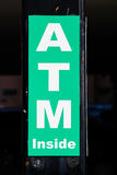 Closeup to an ATM sign Royalty Free Stock Photography