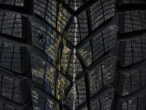 Winter car tire Stock Photos