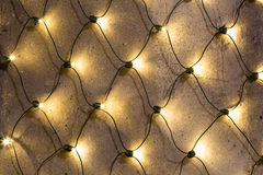 Closeup to Christmas Lights outside on a building Royalty Free Stock Photos