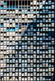 Closeup of residential building exterior window pattern stock photo